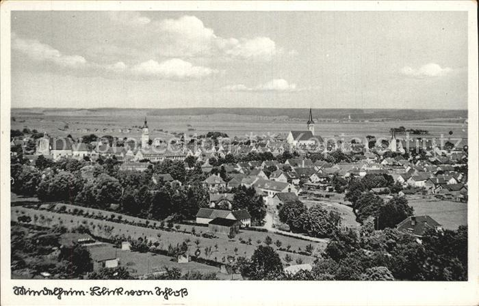 Mindelheim Panorama Blick vom Schloss Kat. Mindelheim