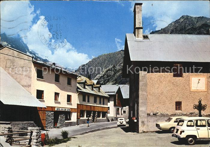 Pelvoux La Place et l Eglise Kat. Pelvoux