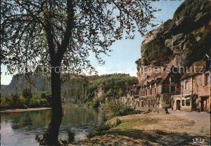 La Roque Gageac Au fond le manoir de Tarde Kat. La Roque Gageac