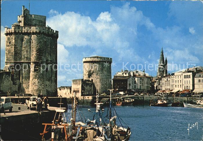 La Rochelle Charente Maritime Le Port et les 3 Tours St Nicolas de la Chaine et de la Lanterne Kat. La Rochelle