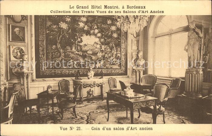 Bordeaux Grand Hotel Montre Coin d un salon d Art ancien Kat. Bordeaux