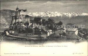 Grenoble Les Cotes de Sassenage et la Chaine des Alpes Kat. Grenoble