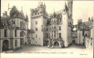 Pierrefonds Oise Le Chateau Escalier d Honneur  Donjon et la Chapelle Kat. Pierrefonds