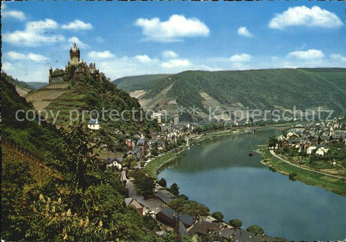 Cochem Mosel Mosel mit Burg Cochem Kat. Cochem