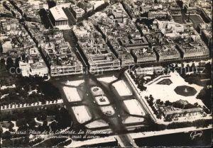 Paris Place de la Concorde La Madeleine Place Vendome Luftbild Kat. Paris