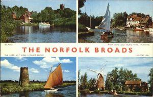 Norfolk Norwich Belaugh River Bure and Swan Hotel Horning The River Ant Near Ludham Bridge Huntset Mill / Norwich /