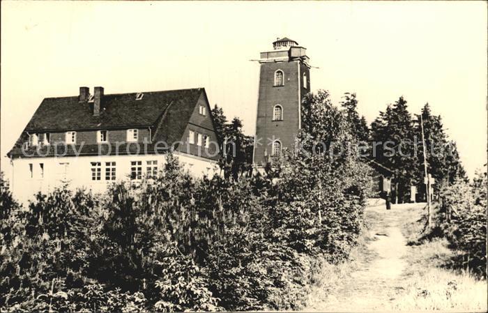 Kuhberg Stuetzengruen HO Unterkunftshaus und Turm Kat. Stuetzengruen