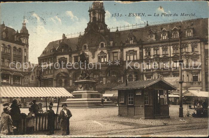 Essen Ruhr Place du Marche Marktplatz Denkmal Kat. Essen