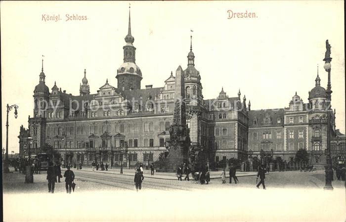 Dresden Koenigliches Schloss Kat. Dresden Elbe
