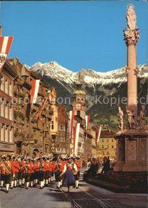 Innsbruck Maria Theresien Strasse Wiltener Stadtmusikkapelle Kat. Innsbruck