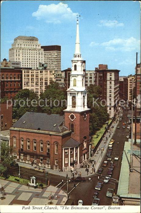 Boston Park Street Church  Kat. Boston
