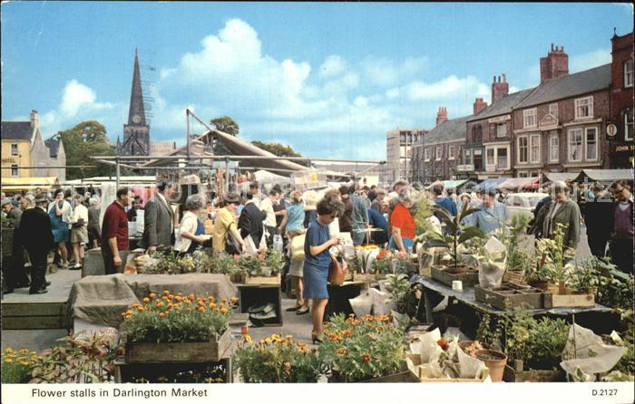 Darlington Flower Stalls Market Kat. Darlington