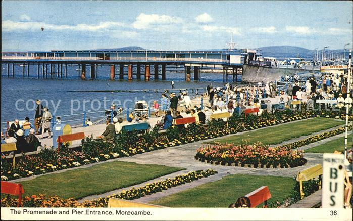 Morecambe Lancashire Promenade and Pier Entrance Kat. City of Lancaster