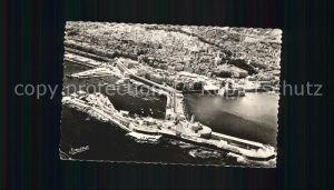 Alger Algerien Fliegeraufnahme mit Hafen