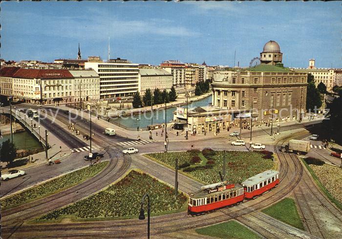 Wien Urania mit Donaukanal Kat. Wien