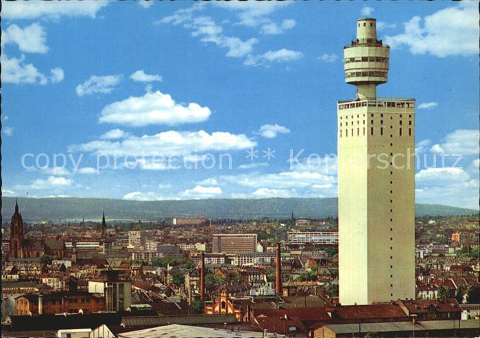 Frankfurt Main mit Henninger Turm Kat. Frankfurt am Main