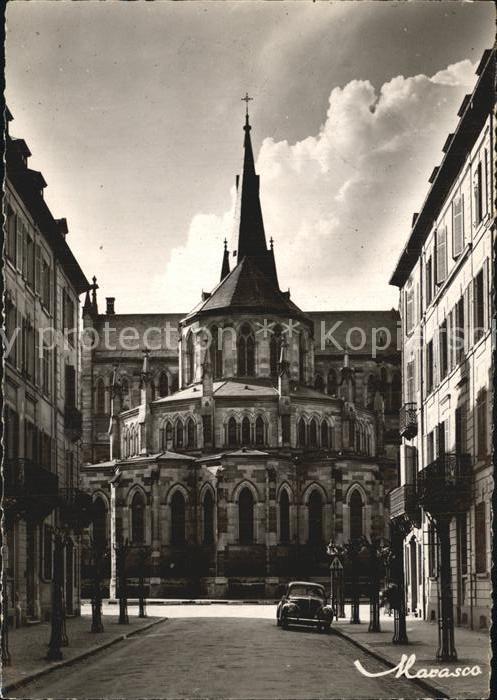 Mulhouse Muehlhausen Rue Magenta et L`Eglise Saint Etienne Kat. Mulhouse