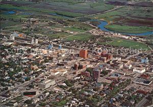 Brandon Manitoba Aerial view of the wheat citys downtown core Kat. Brandon