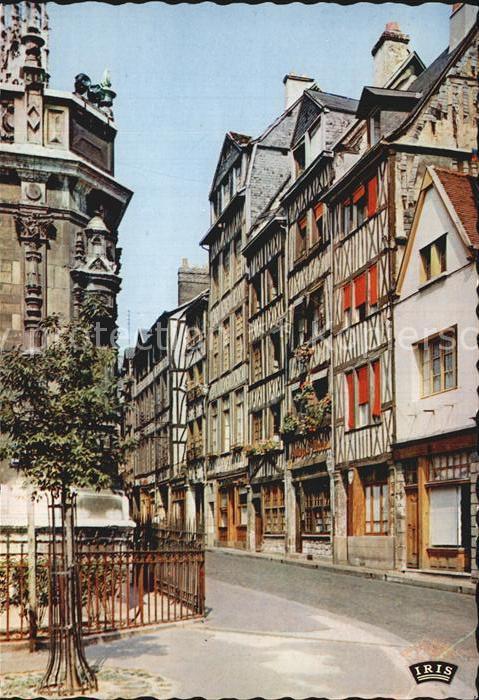Rouen Vieilles maisons ver l Eglise Saint Maclou Kat. Rouen