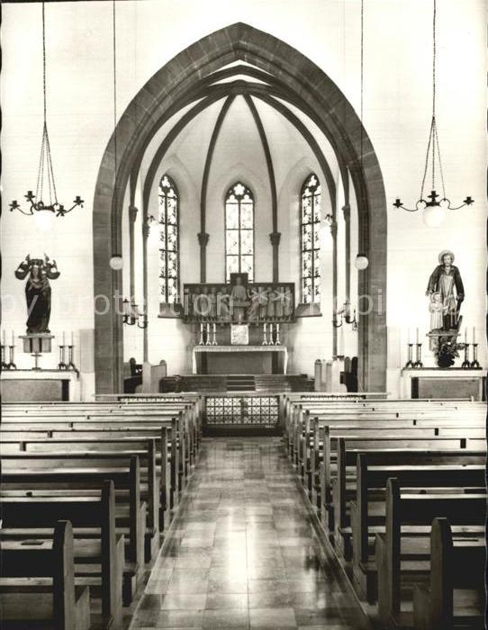 Heiligenbronn Schramberg Klosterkirche innen Kat. Schramberg
