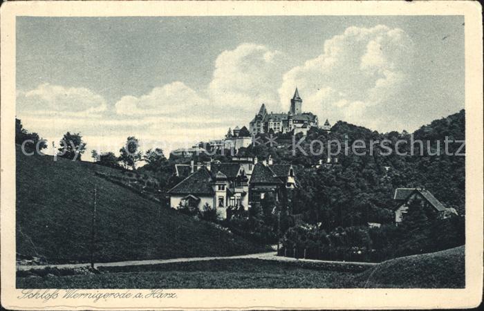 Wernigerode Harz Schloss Wernigerode Kat. Wernigerode