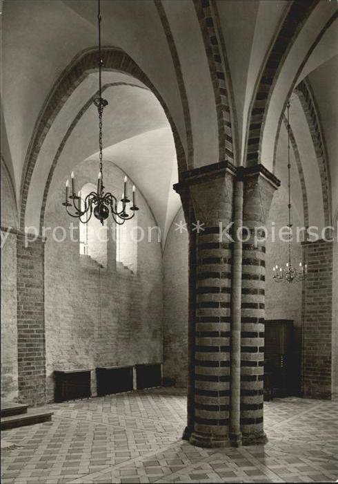 Ratzeburg Dom Vierpasspfeiler in der Vorhalle Kat. Ratzeburg