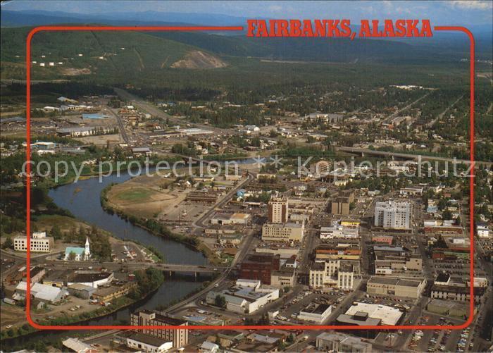 Fairbanks Alaska Downtown Chena River Fliegeraufnahme Kat. Fairbanks