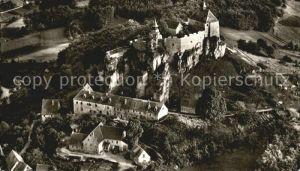 Burg Hohenstein Fliegeraufnahme Kat. Hohenstein
