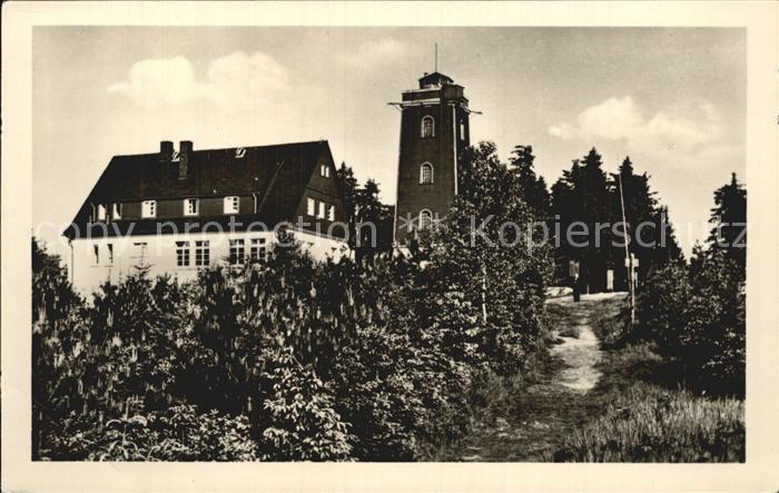 Schoenheide Erzgebirge Kuhberg HO Berggasthaus Aussichtsturm Kat. Schoenheide Erzgebirge
