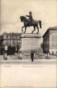 Geneve GE Monument General Dufour Kat. Geneve