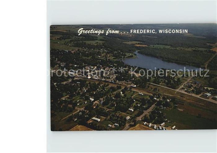 Frederic Wisconsin Fliegeraufnahme Kat. Frederic