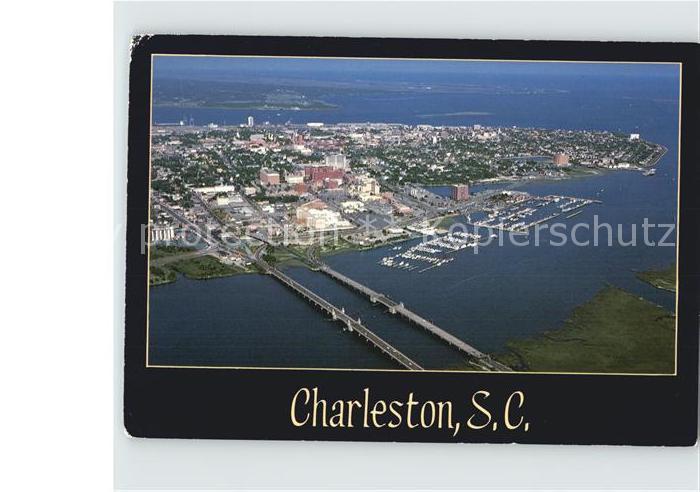 Charleston South Carolina Fliegeraufnahme Ashley River  Kat. Charleston