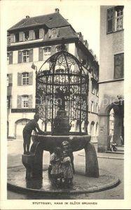 Stuttgart Hans im Glueck Brunnen Kat. Stuttgart