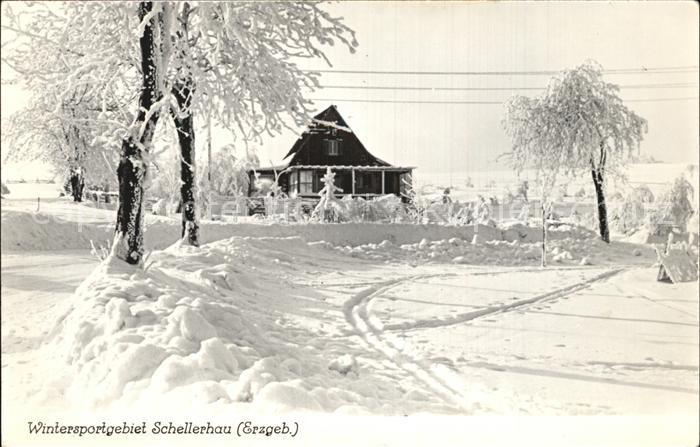 Schellerhau Wintersportgebiet im Erzgebirge Handabzug Kat. Altenberg