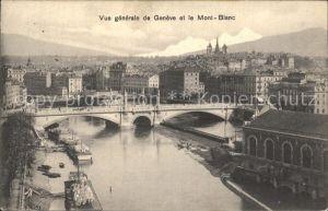 Geneve GE Brueckenpartie mit Mont Blanc Kat. Geneve