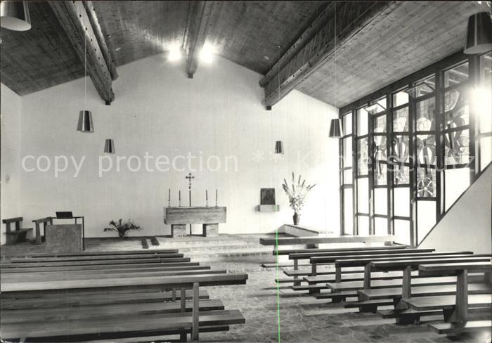 Berguen Bravuogn GR Kath Kirche Inneres Kat. Berguen