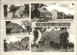 Kirchhain Doberlug Kirchhain HOG Gruener Berg Rautenstock Rathaus Markt Hauptstrasse Kindergarten Kat. Doberlug Kirchhain