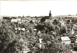Dippoldiswalde Osterzgebirge Ortsansicht mit Kirche Kat. Dippoldiswalde