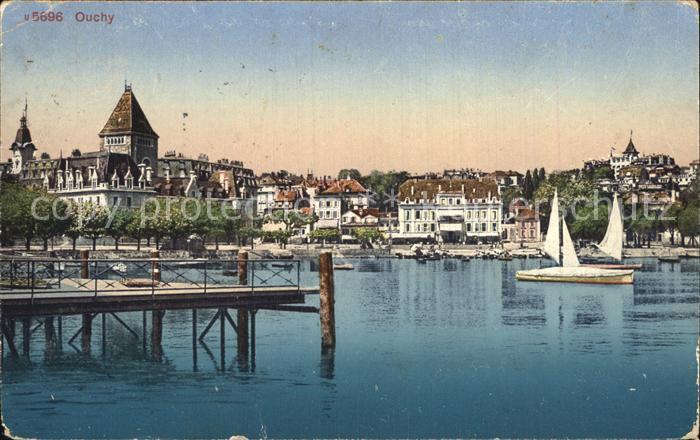 Ouchy Hafenansicht Kat. Lausanne