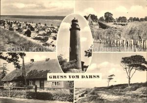 Darss Region Ostsee Strand Leuchtturm Wohnhaus Duenenlandschaft Kat. Wieck Darss