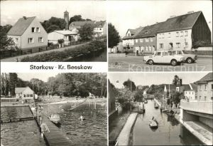 Storkow Mark Teilansicht Markt Freibad Storkower See Schleuse Kat. Storkow Mark