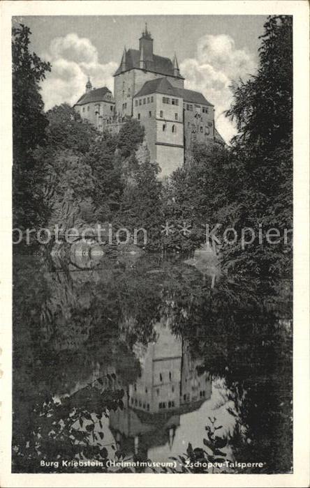 Kriebstein Burg Kriebstein Zschopau Talsperre Kat. Kriebstein