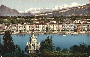 Geneve GE Partie am See mit Alpen Kat. Geneve