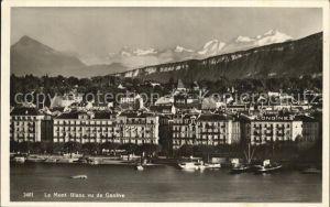 Geneve GE Partie am See mit Mont Blanc Kat. Geneve