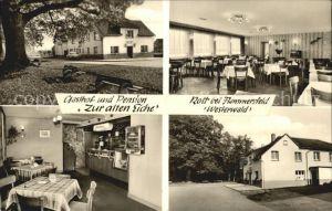 Rott Westerwald Gasthof Pension Zur alten Eiche Kat. Rott