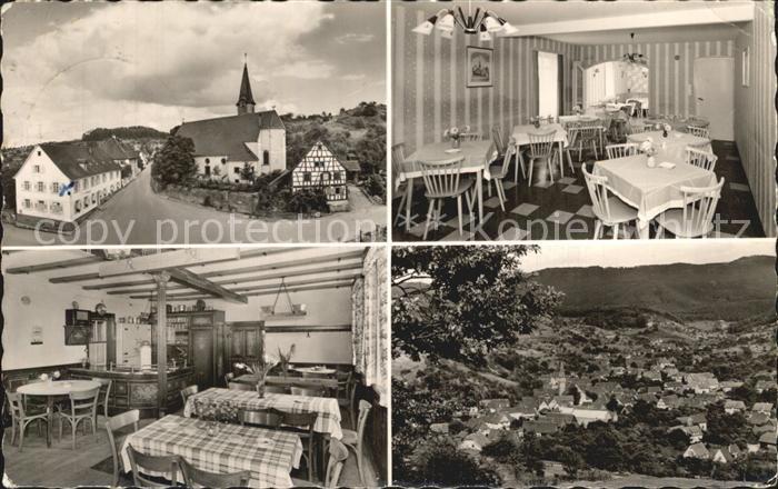Michelbach Murgtal Gaggenau Gasthaus und Pension zum Engel Ortsansicht mit Kirche Kat. Gaggenau