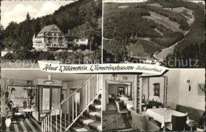 Wiemeringhausen Haus Wildenstein Treppenaufgang Gaststube Kat. Olsberg