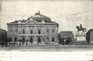 Geneve GE Theater Statue General Dufour Kat. Geneve