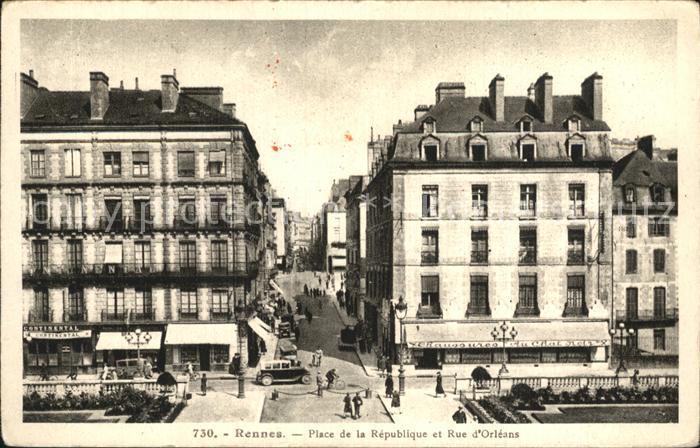 Rennes Place de la Republique et Rue d Orleans Kat. Rennes