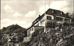 Rhoendorf Haus Adenauer mit Blick auf den Drachenfels Kat. Bad Honnef
